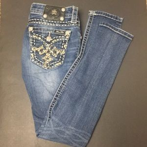 Miss Me signature rise skinny jeans sz 26